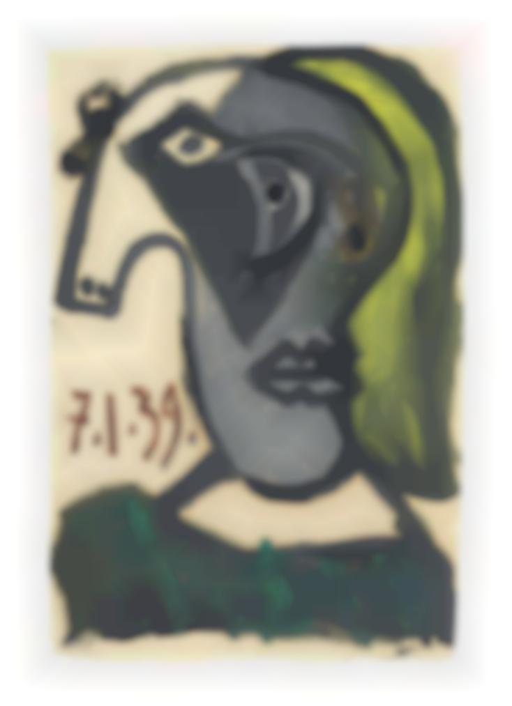 Pablo Picasso-Tete De Femme (Dora Maar)-1939