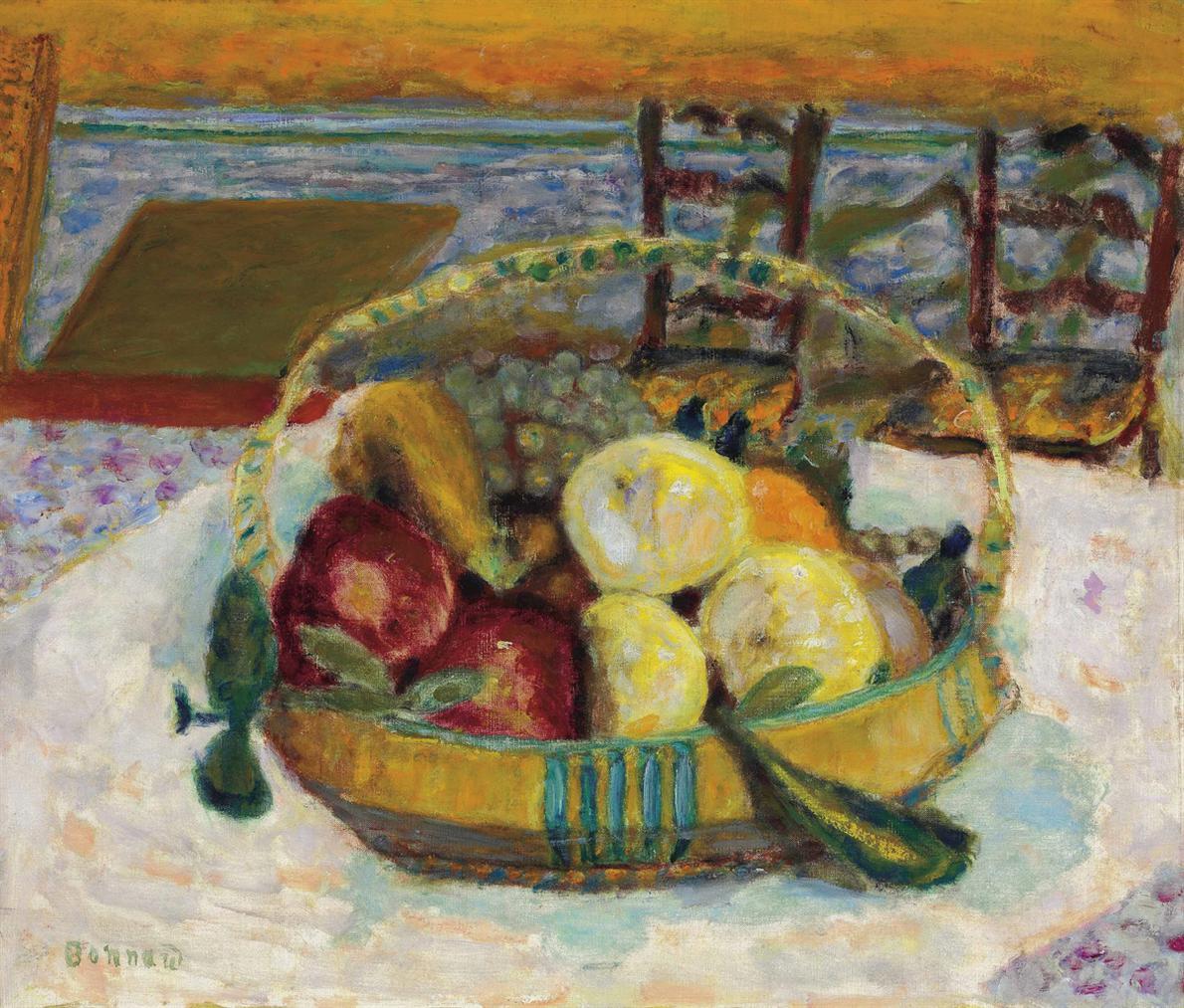 Pierre Bonnard-Corbeille De Fruits Dans La Salle A Manger Du Cannet-1928