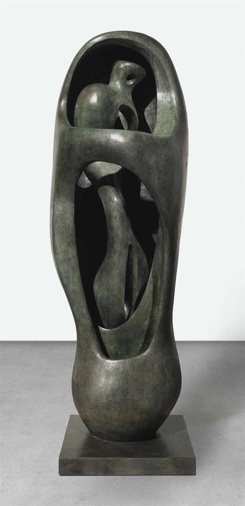 Henry Moore-Upright Internal/External Form-1960