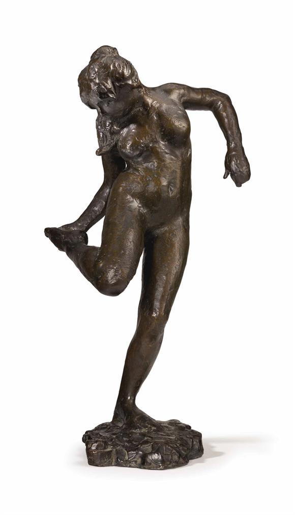 Edgar Degas-Danseuse Regardant La Plante De Son Pied Droit-1922