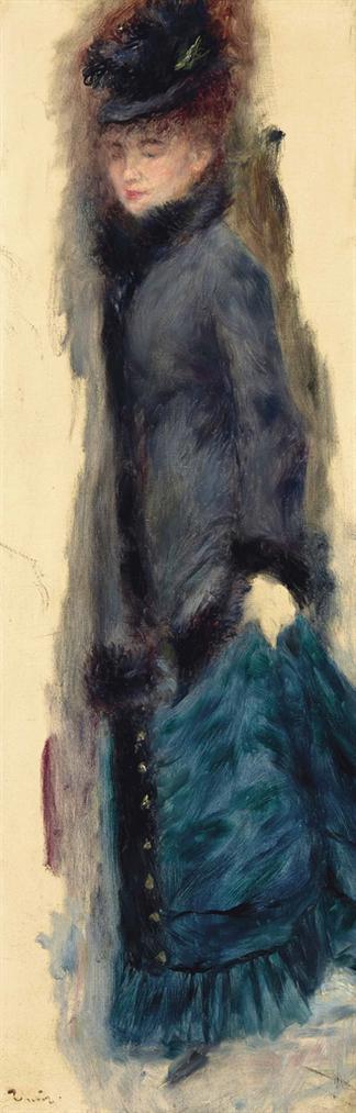 Pierre-Auguste Renoir-Femme Relevant Sa Jupe, La Parisienne-1877