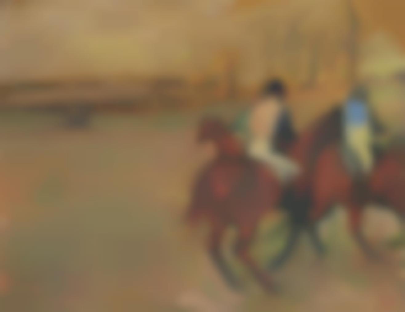 Edgar Degas-Chevaux Et Jockeys-1895
