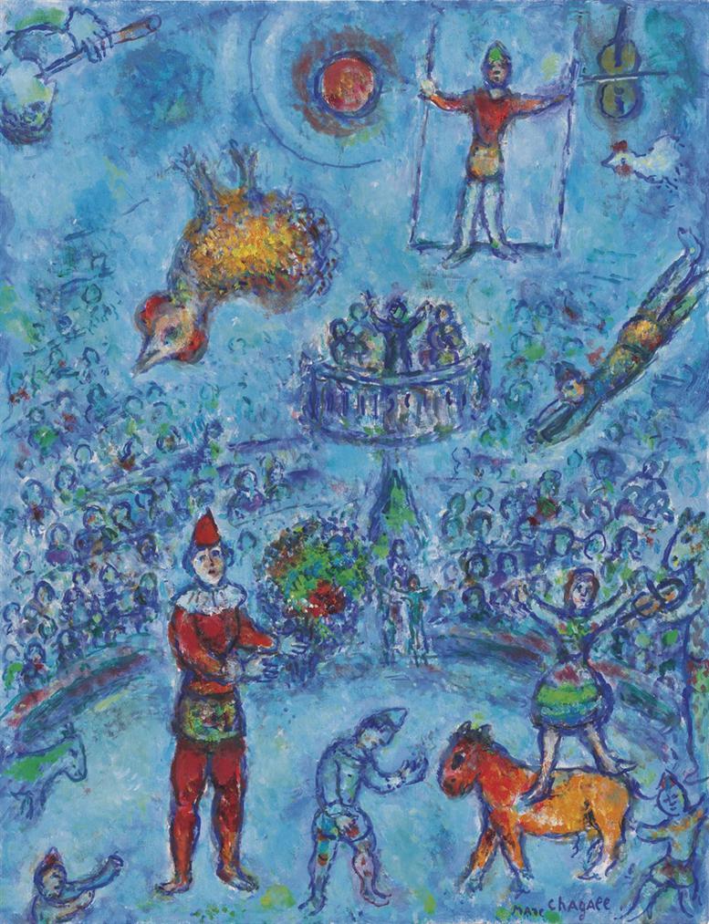 Marc Chagall-Le Petit Cirque Bleu-1979