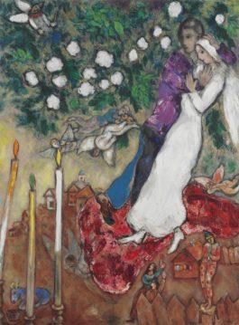 Marc Chagall-Les Trois Cierges-1939
