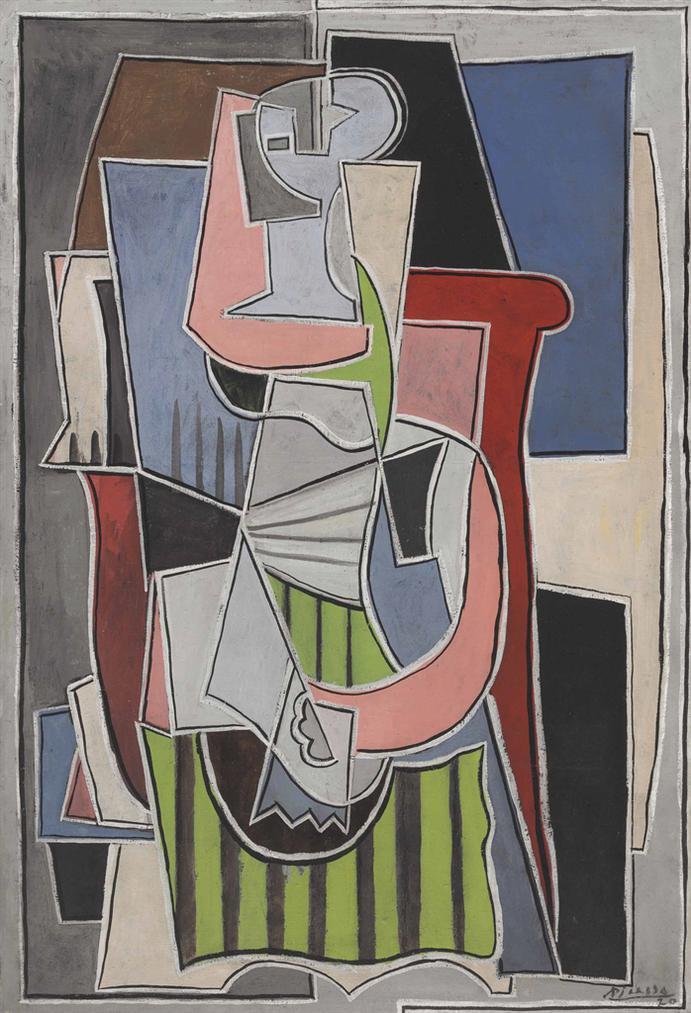 Pablo Picasso-Femme Assise Dans Un Fauteuil-1920