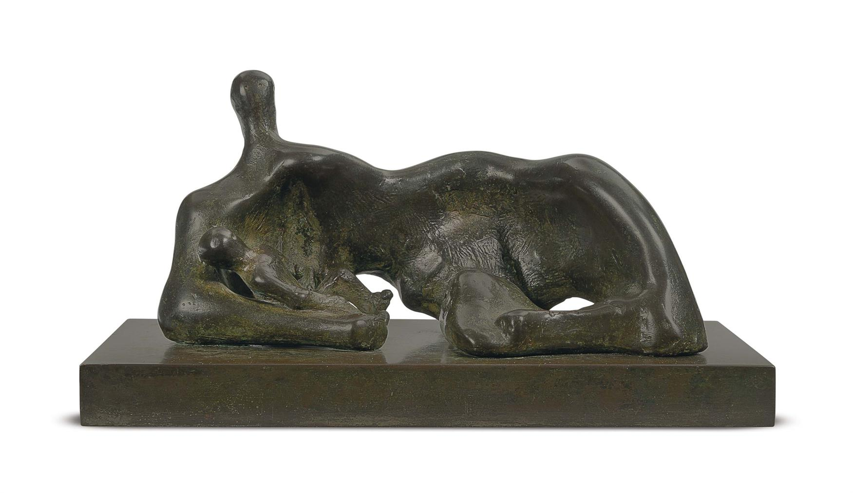 Henry Moore-Maquette For Draped Reclining Mother And Baby-1982