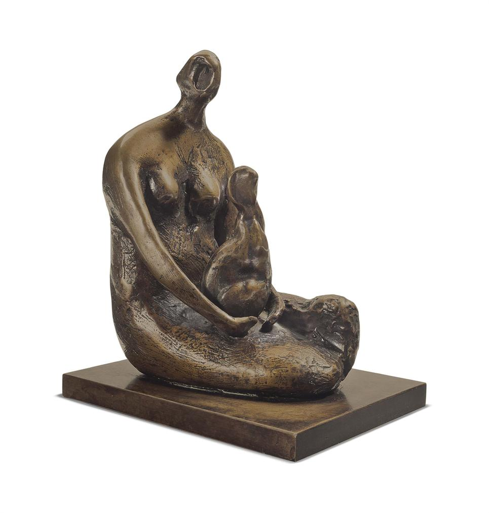 Henry Moore-Seated Woman Holding Child-1982