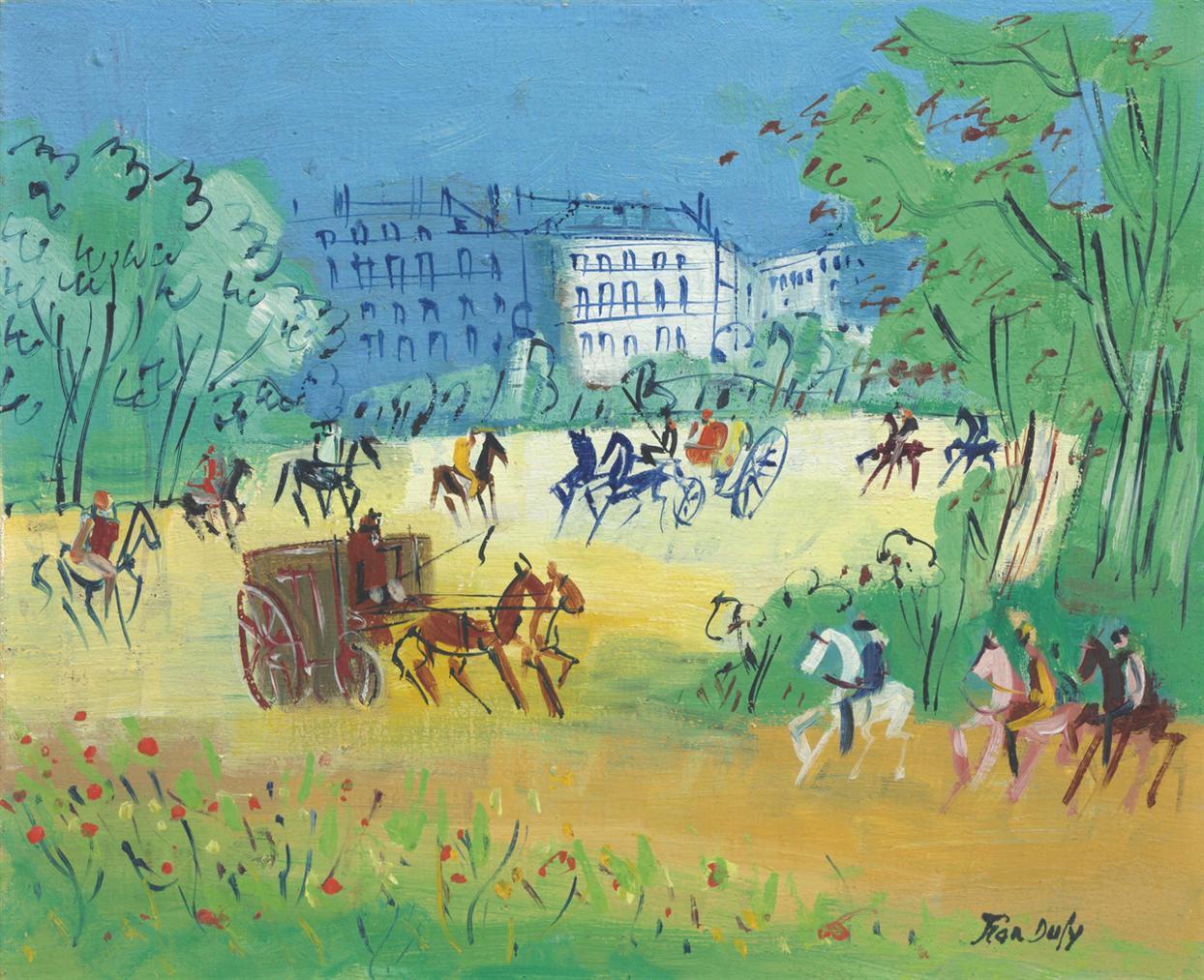 Jean Dufy-Caleches Et Cavaliers-