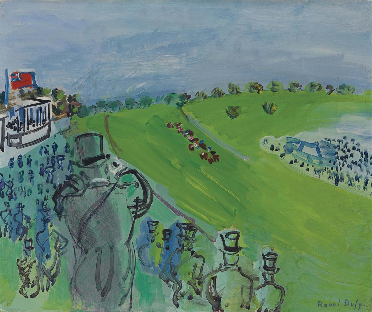 Raoul Dufy-Epsom, La Course-1931
