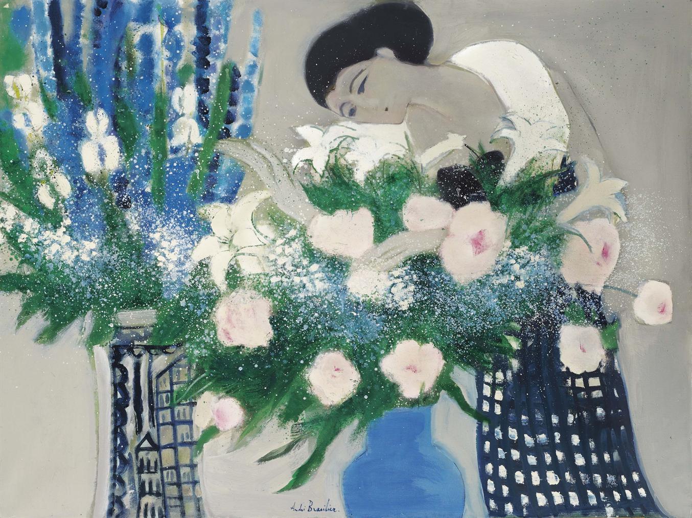 Andre Brasilier-Chantal Aux Fleurs-1969