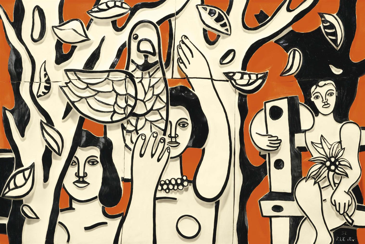 Fernand Leger-Femmes Aux Perroquets-1952