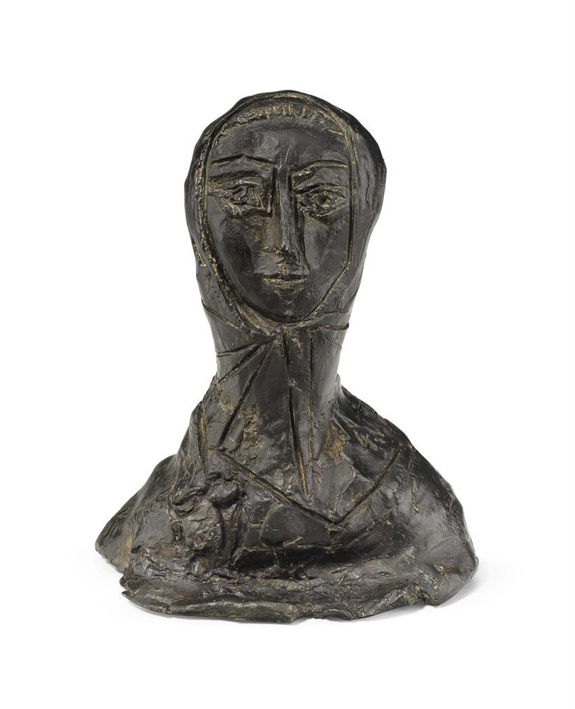 Pablo Picasso-Femme En Fichu-1953