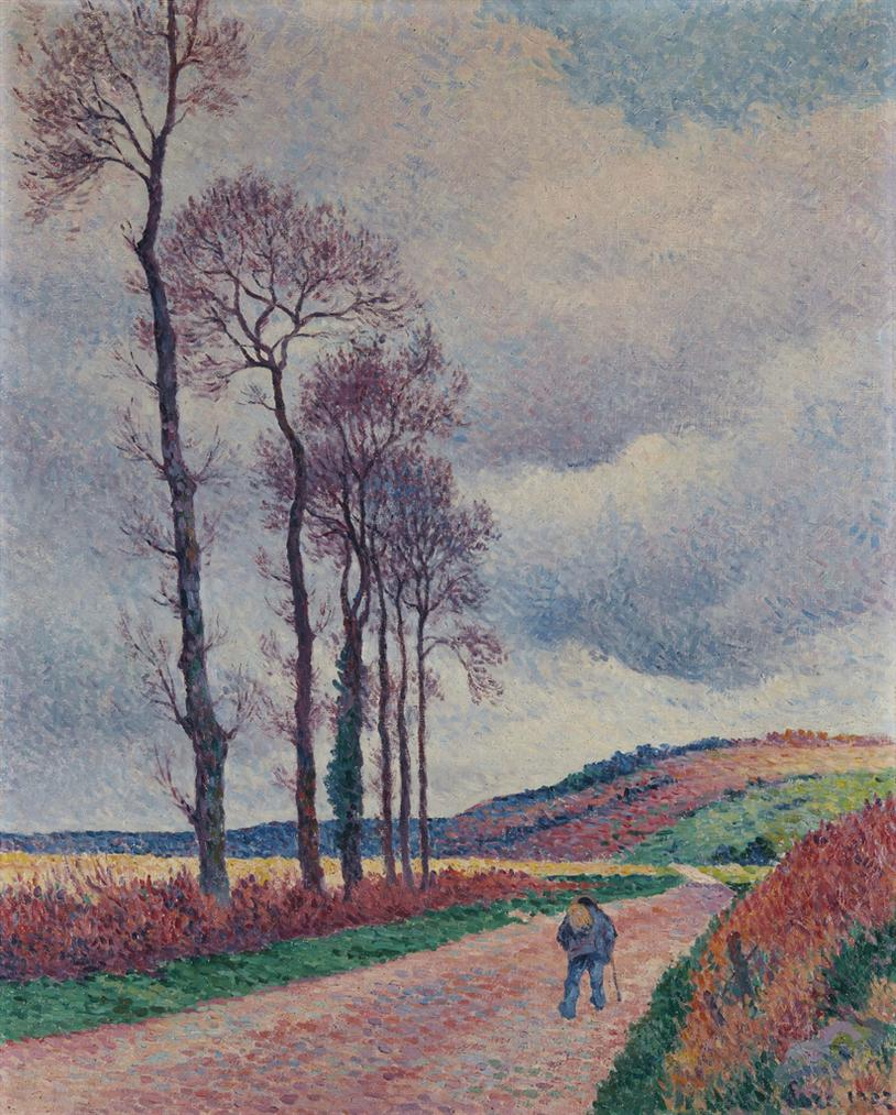 Maximilien Luce-La Route Aux Environs De Mereville-1902