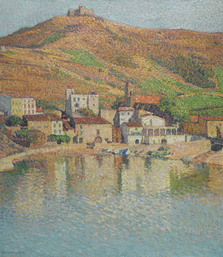 Henri Martin-La Baie De Collioure, Avec Le Fort-1930