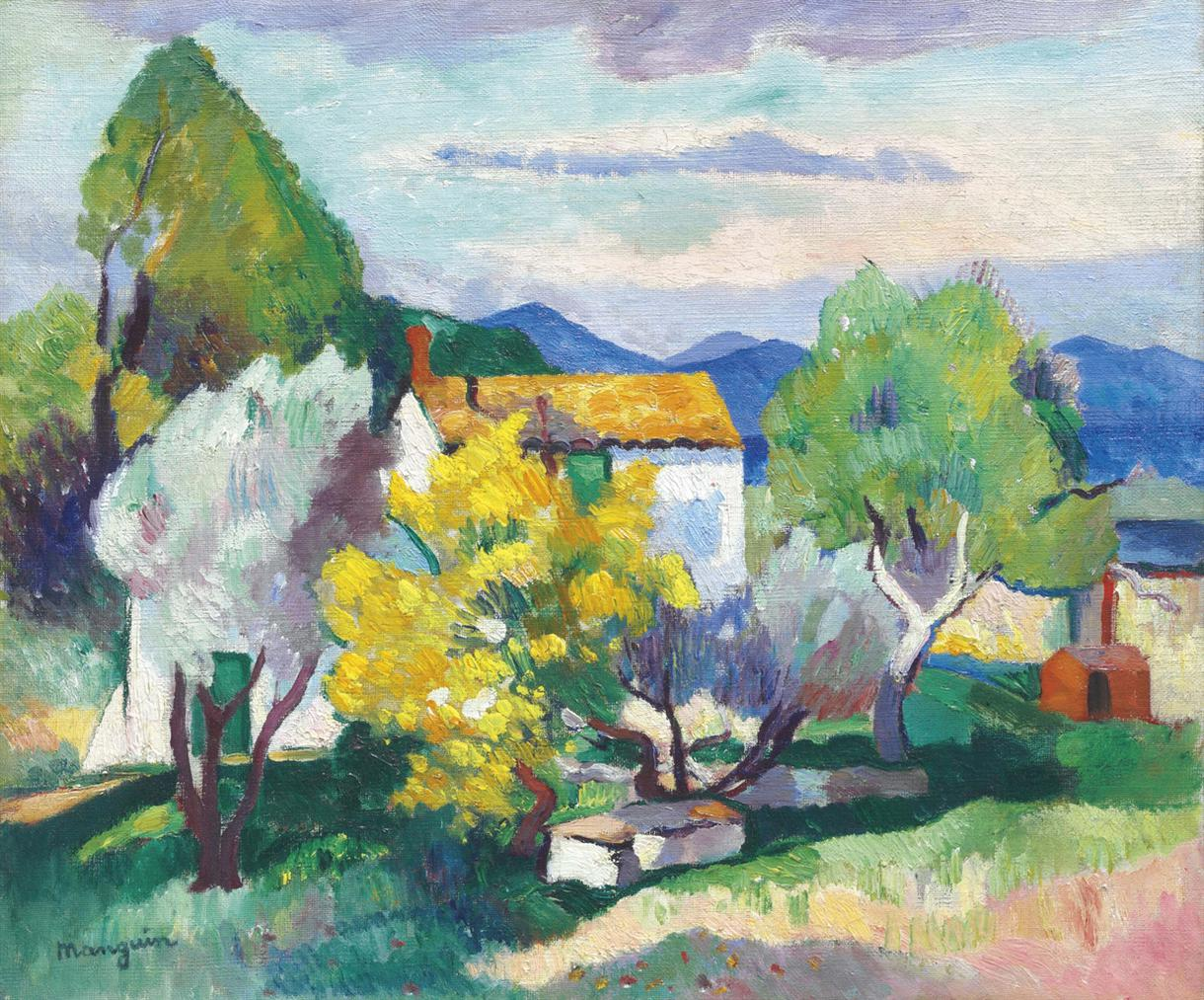 Henri Charles Manguin-Mimosas En Fleurs-1907