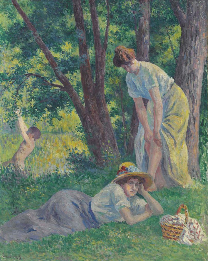 Maximilien Luce-La Baignade-1909