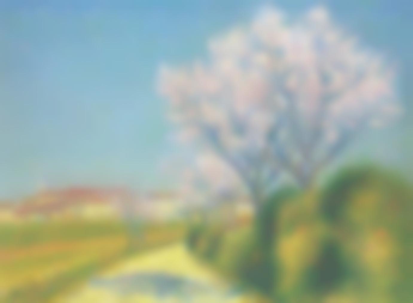 Achille Lauge-Amandiers En Fleur A Lentree De Cailhavel-1928