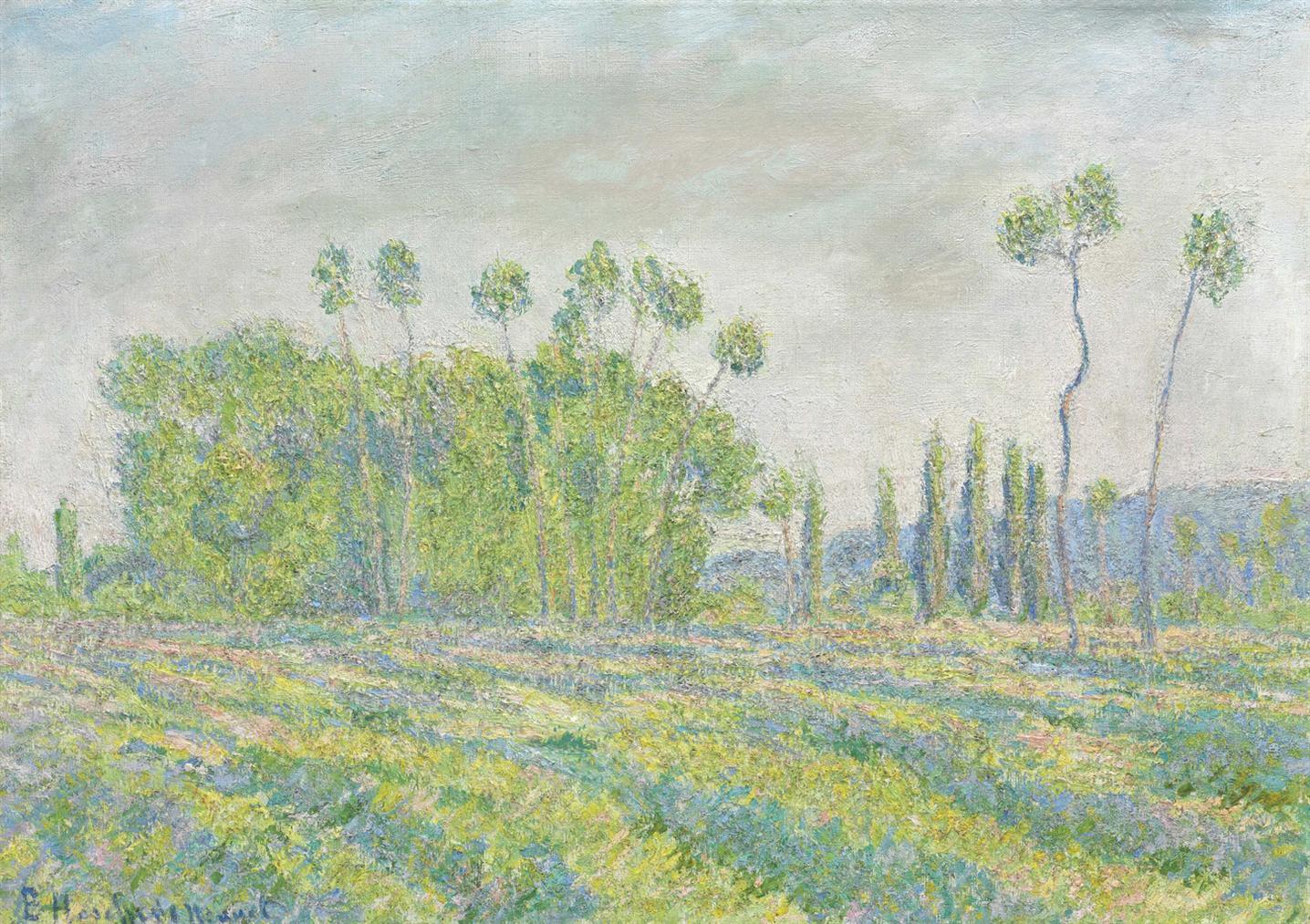 Blanche Hoschede Monet-Giverny, Peupliers Des Ajoux-1896