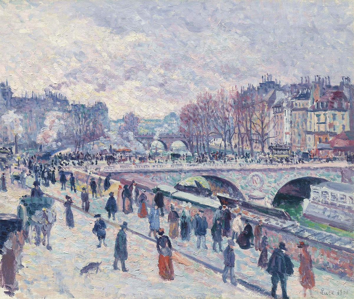 Maximilien Luce-Le Quai Saint-Michel-1900