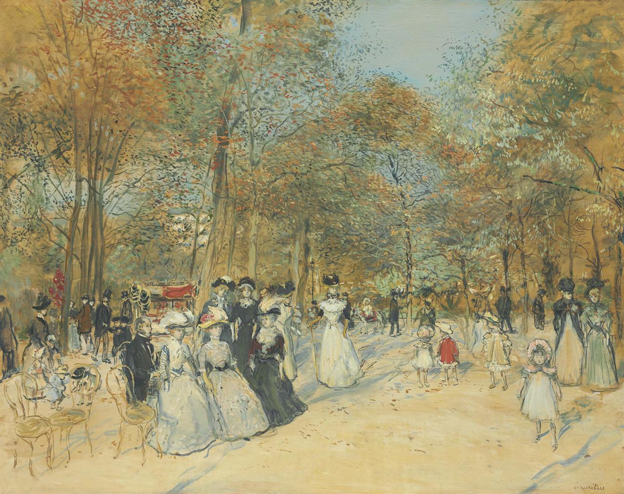 Jean-Francois Raffaelli-Promenade Aux Champs-Elysees-