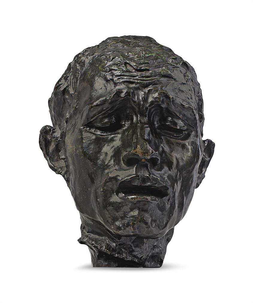 Auguste Rodin-L'Un Des Bourgeois De Calais, Tete De Pierre De Wiessant, Etude Type B, Variante Avec Piedouche-1960