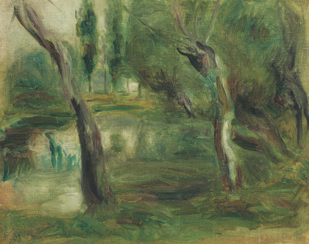 Pierre-Auguste Renoir-Saule Au Bord Dune Mare-1874