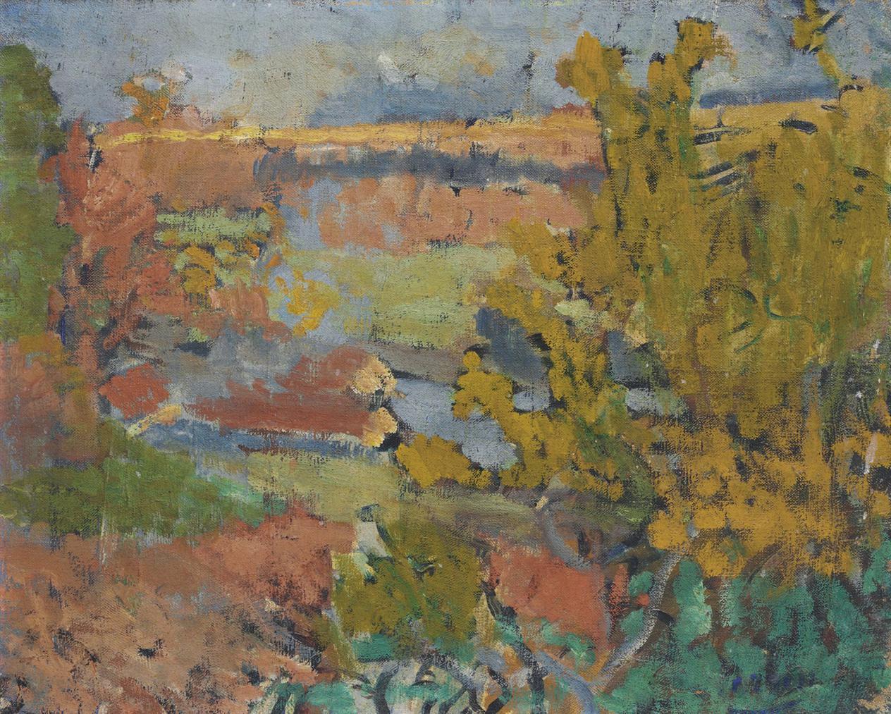 Andre Derain-Paysage Aux Environs De Chatou-1905