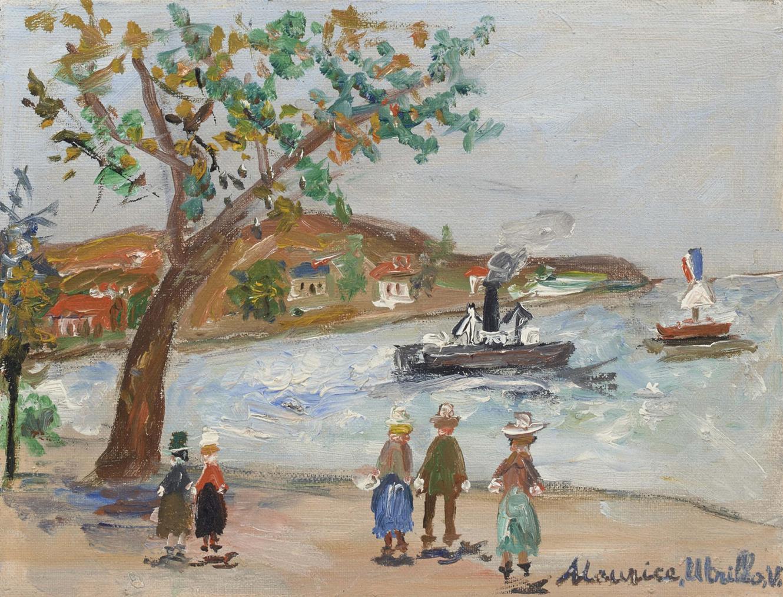 Maurice Utrillo-Rade De Beaulieu (Alpes-Maritimes)-1950