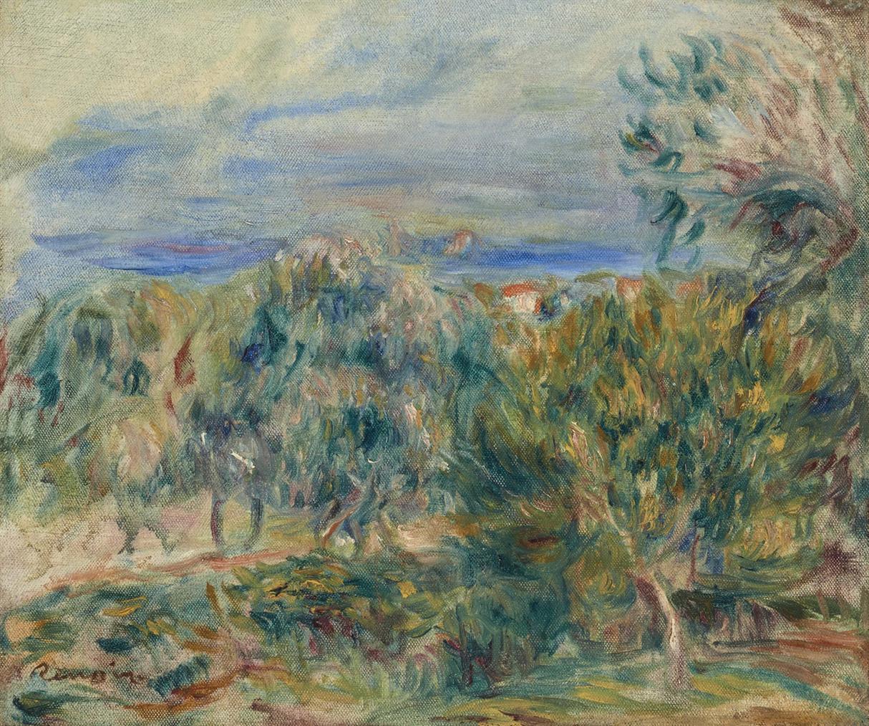 Pierre-Auguste Renoir-Paysage A Cagnes-1910