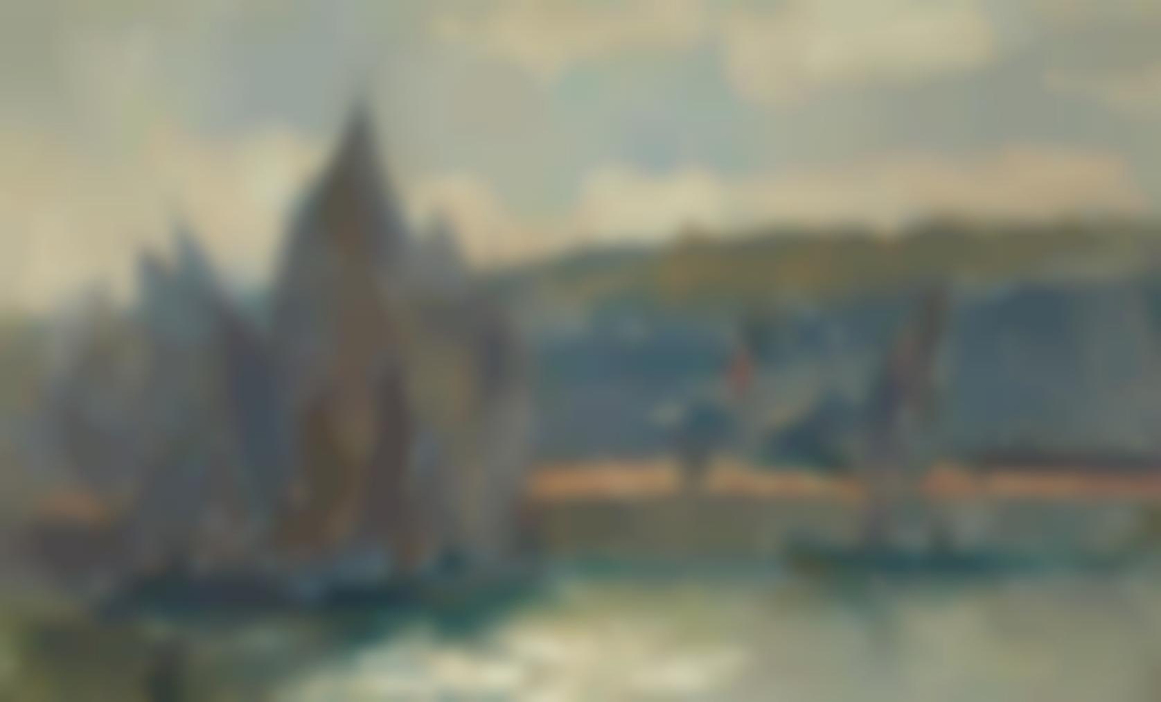 Albert Lebourg-Honfleur, Barques De Peche-1901