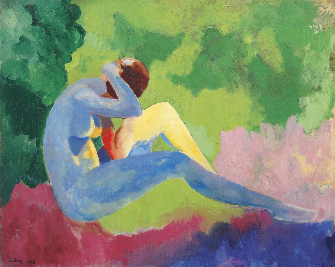 Moise Kisling-Nu Dans Le Paysage-1918