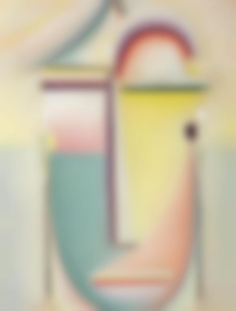 Alexej von Jawlensky-Abstrakter Kopf: Durchdringendes Licht-1921
