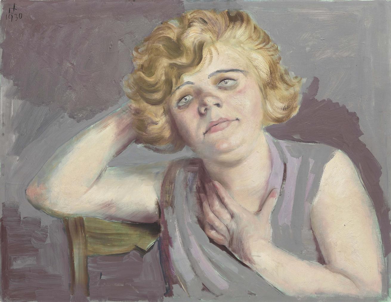 Otto Dix-Madchen Mit Aufgestutztem Arm-1930