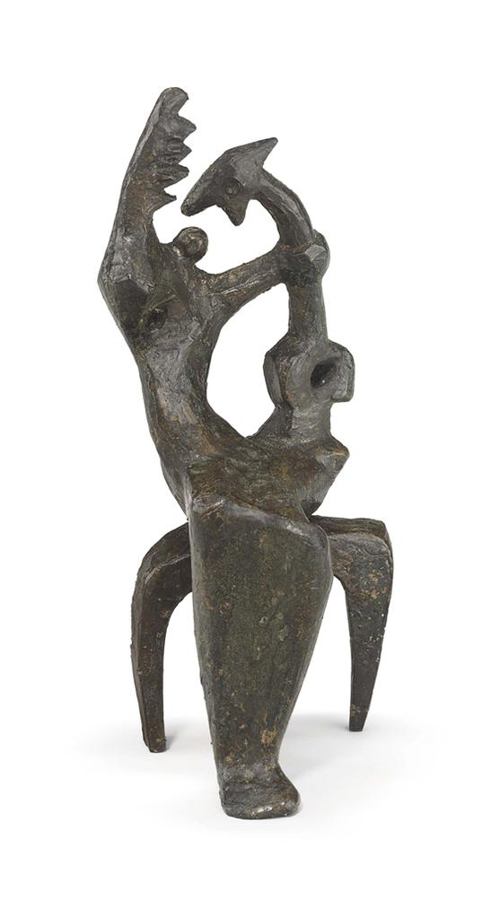 Henry Moore-Maquette For Mother And Child-1952