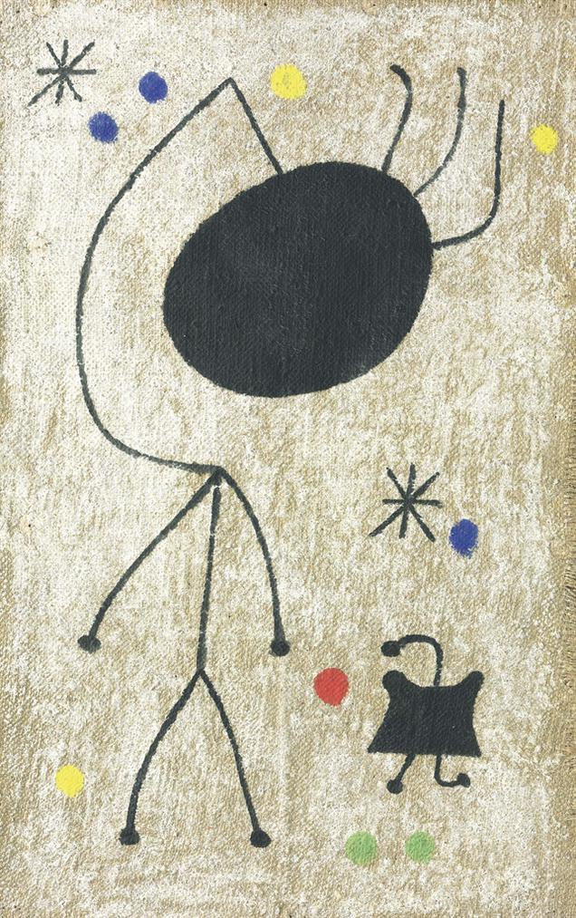 Joan Miro-Personnages Dans La Nuit-1944