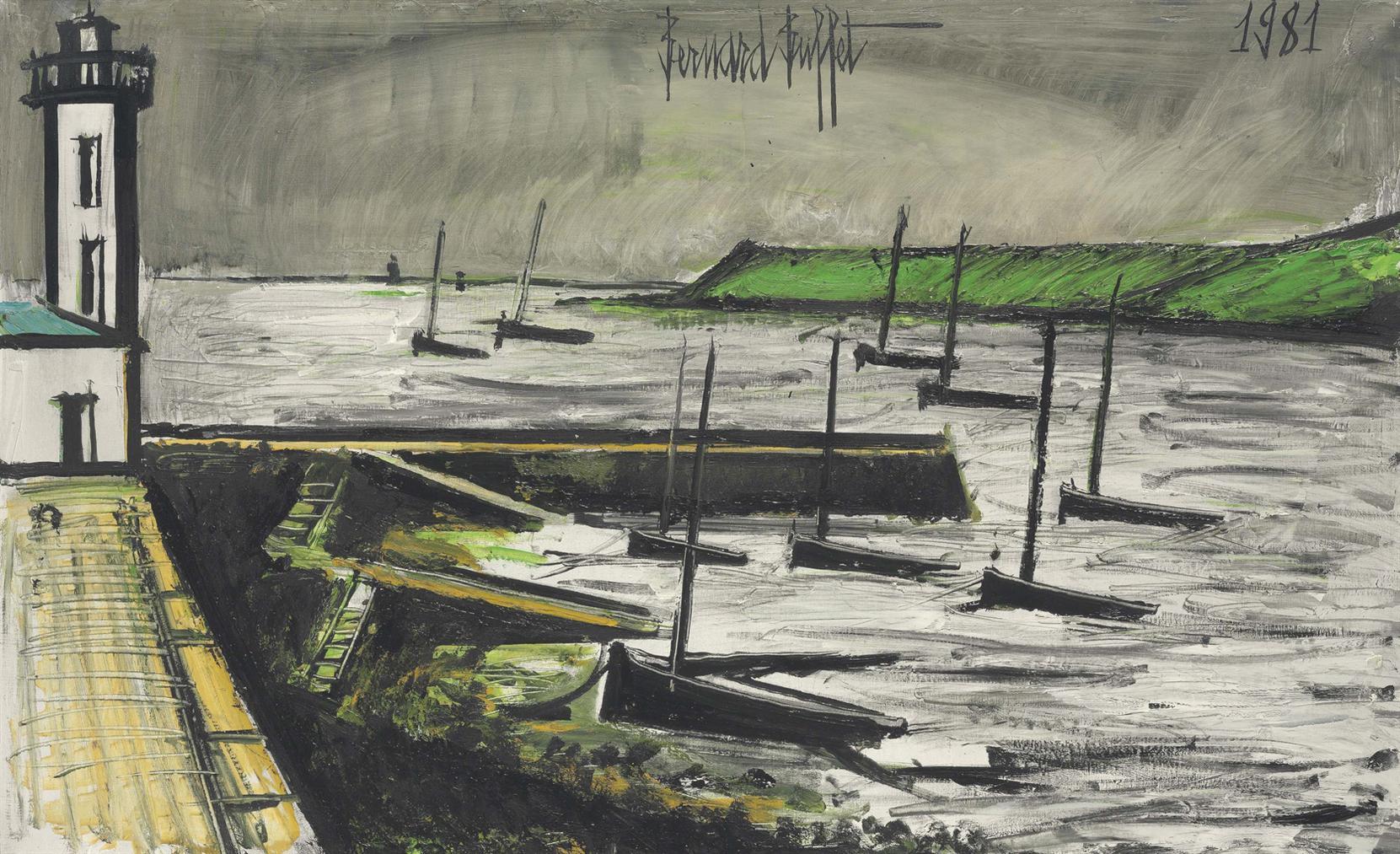 Bernard Buffet-Phare Et Jetee-1981