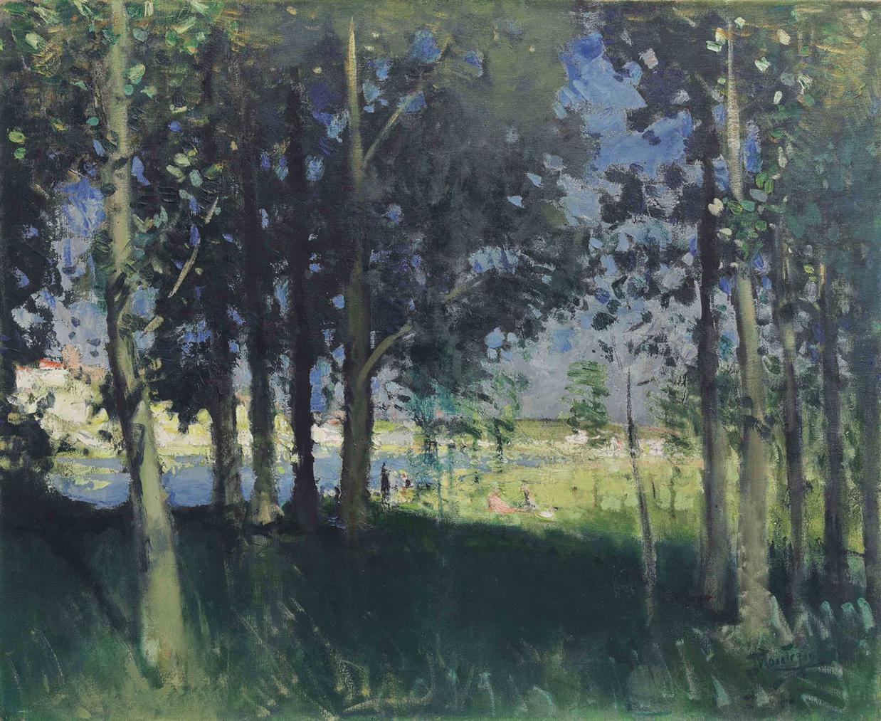 Pierre Eugene Montezin-Paysage En Foret-1935