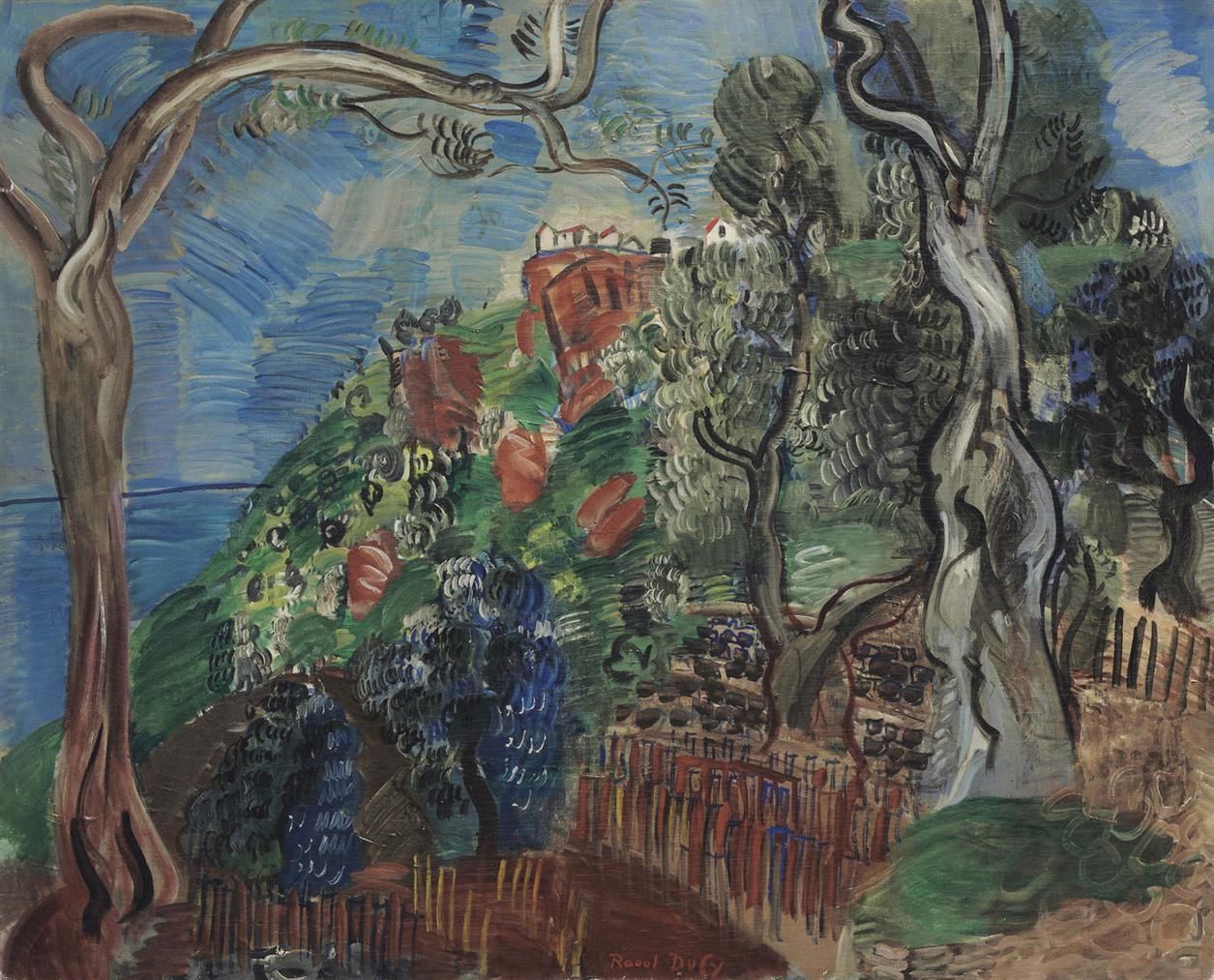 Raoul Dufy-Paysage De Sicile-1923