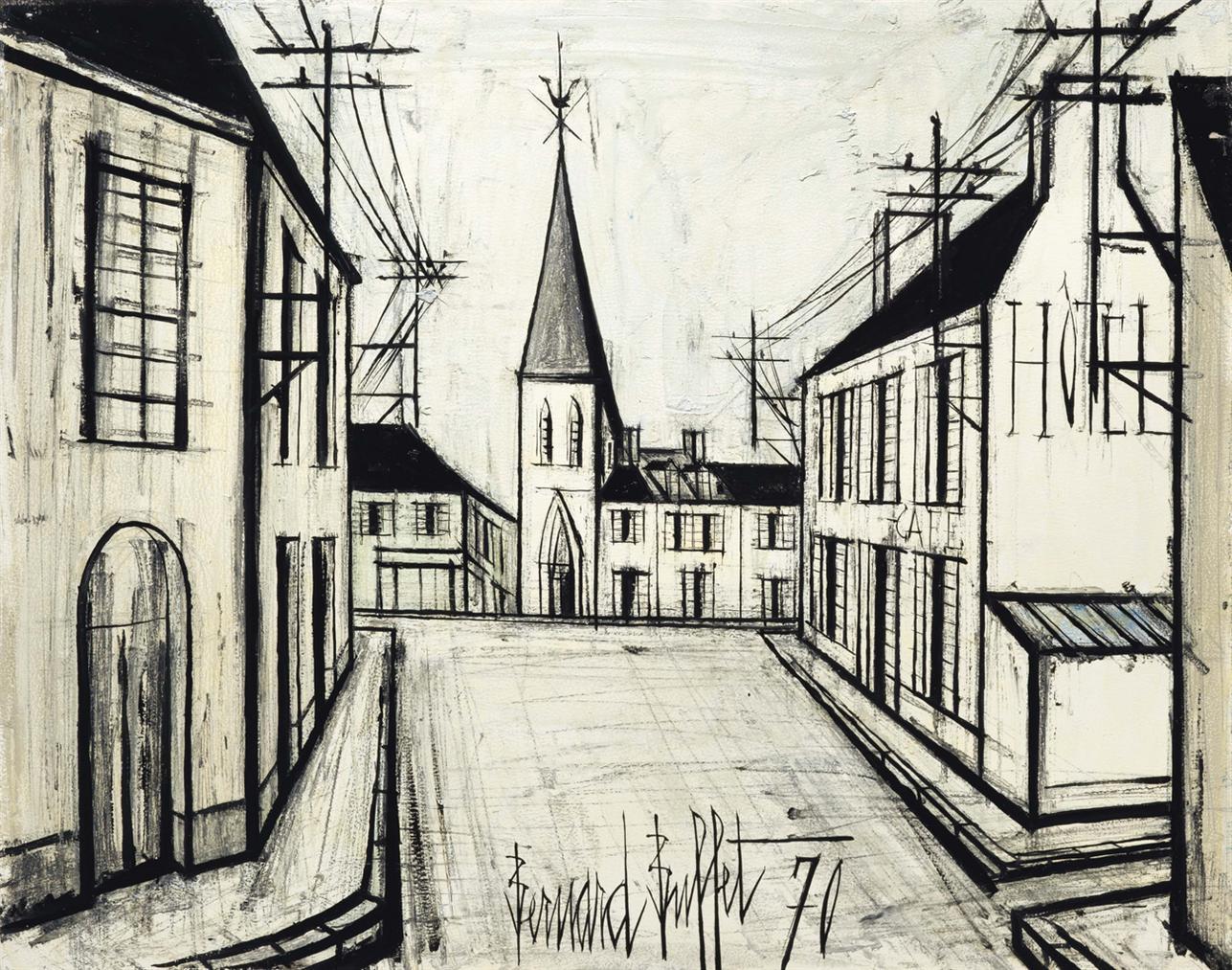 Bernard Buffet-Rue De Village-1970