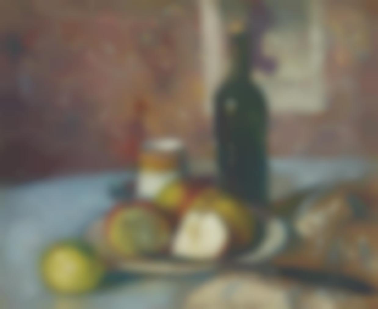 Albert Marquet-Nature Morte Aux Fruits, Tasse Et Bouteille-