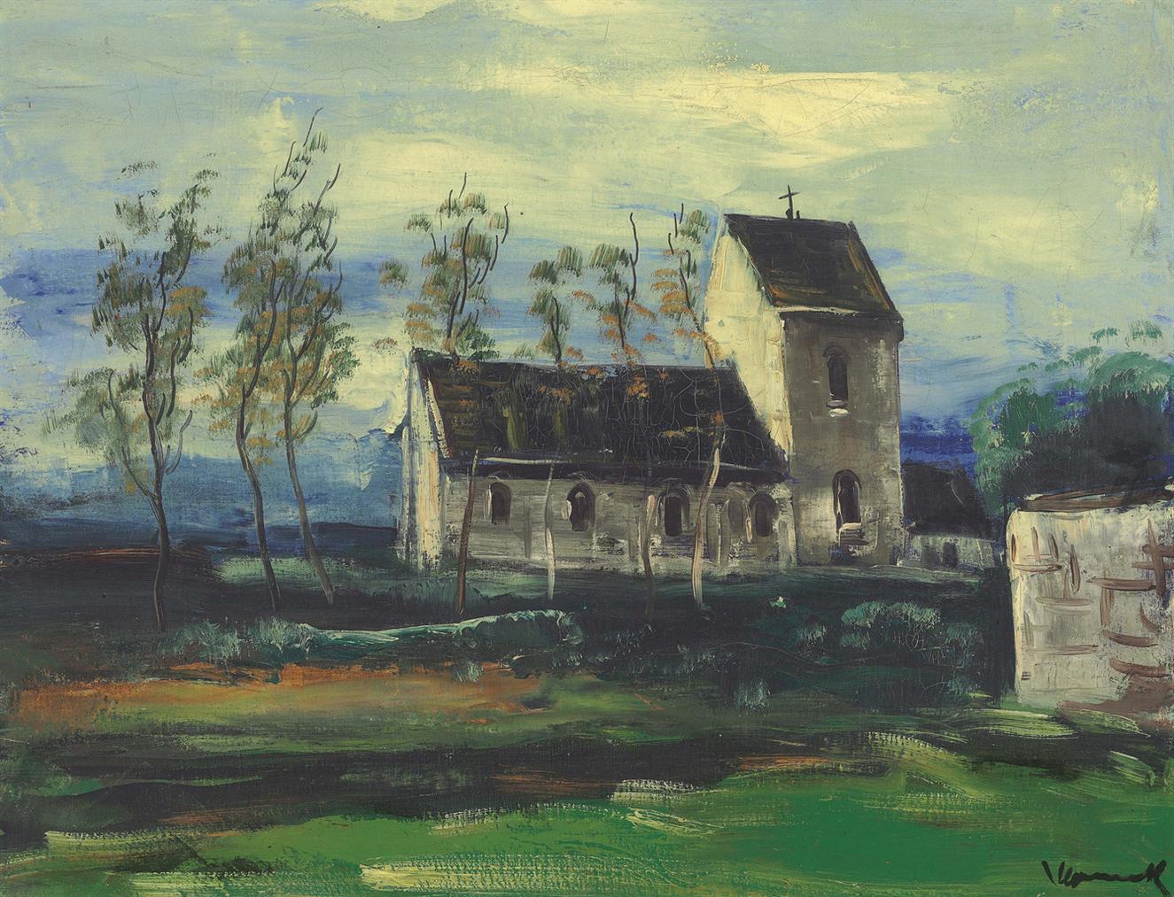 Maurice de Vlaminck-L'Eglise Du Vexin-1923