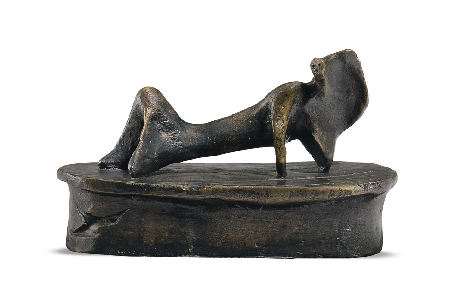 Henry Moore-Maquette For Reclining Figure: Cloak-1969