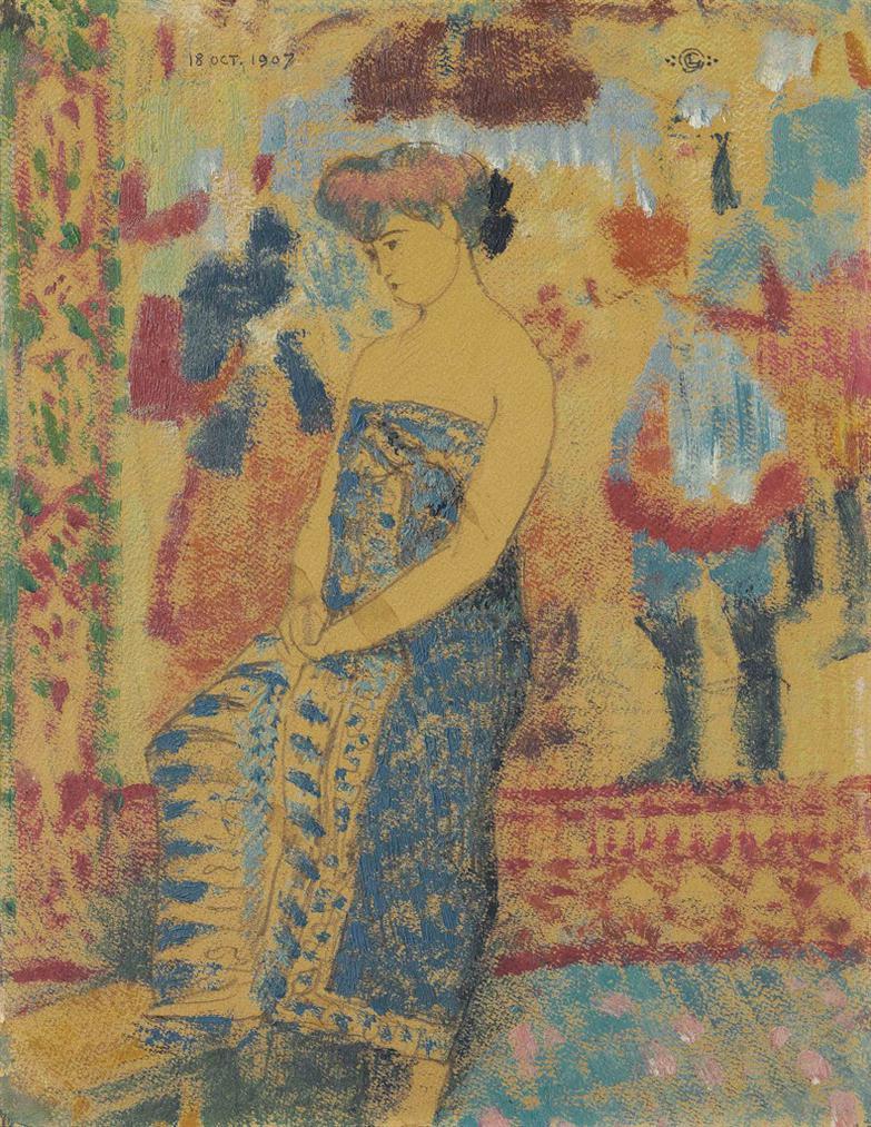 Georges Lemmen-Nu A La Draperie-1907