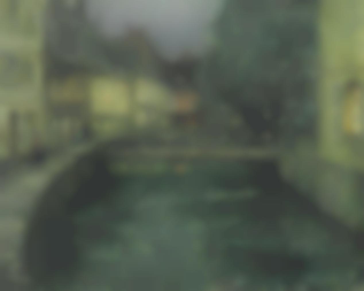 Henri Eugene Le Sidaner-Le Canal Au Crepuscule-1912