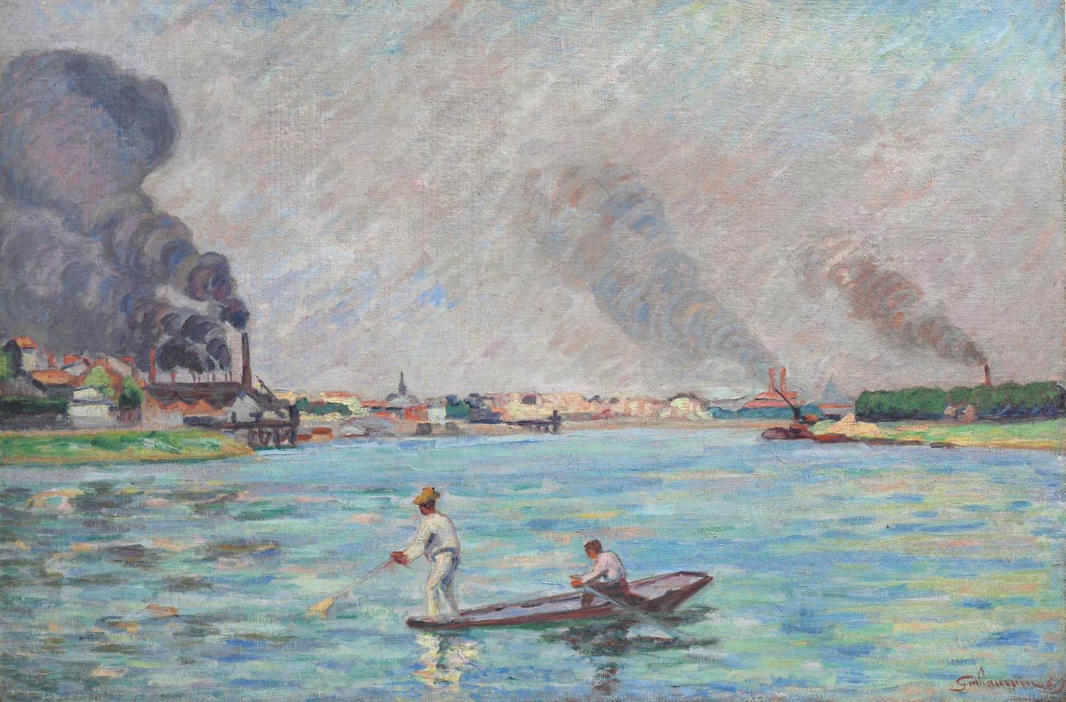 Jean-Baptiste Armand Guillaumin-La Seine A Ivry-1887