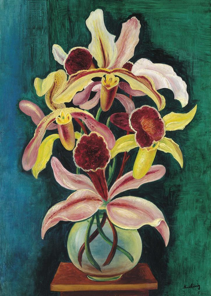 Moise Kisling-Vase Dorchidees-