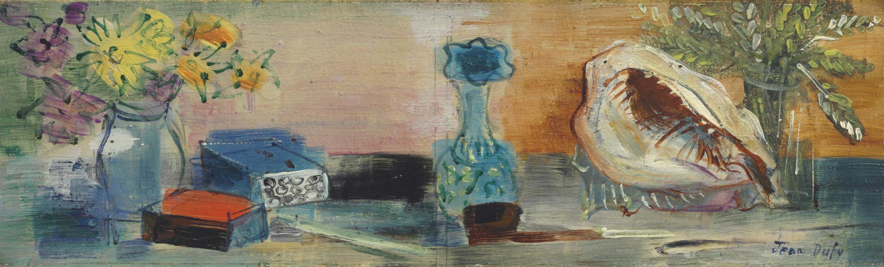 Jean Dufy-Nature Morte Au Coquillage-1937