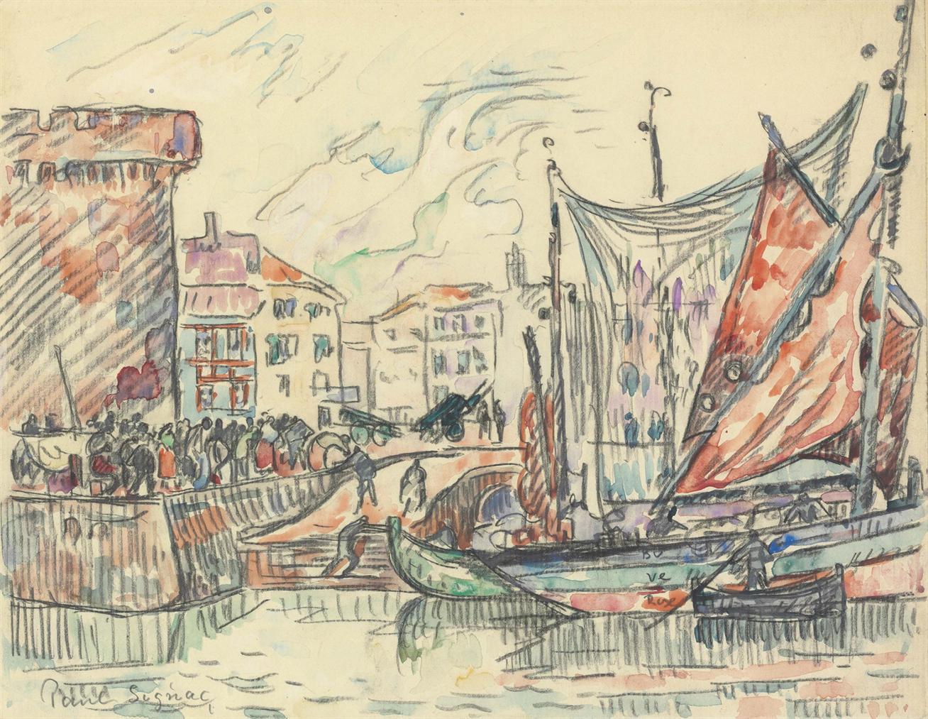 Paul Signac-La Rochelle-1923