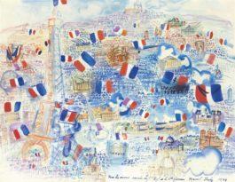 Raoul Dufy-Paris Pavoise Et La Tour Eiffel-1944