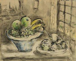 Marc Chagall-Nature Morte A La Fenetre-1949